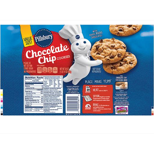 Pillsbury™ Refrigerated Cookies Chocolate Chip 30.0 oz. Tube