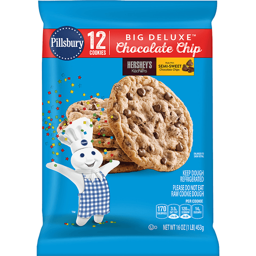 Pillsbury™ Refrigerated Cookies Chocolate Chip 12 ct Pack