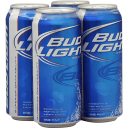 BUD LIGHT Beer 6-16 OZ CAN | Turkeyfoot