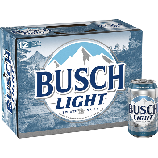 Busch Light Beer 12 Pack 12 Fl Oz Cans 4 1 Abv Lagers Price Cutter