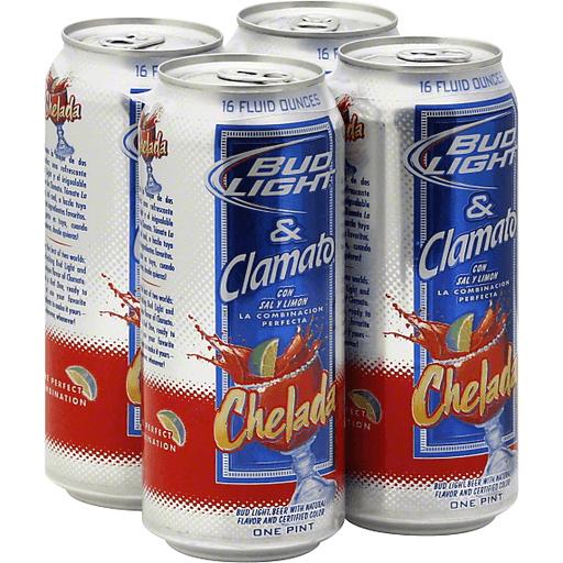 Bud Light & Clamato Chelada - 4 PK