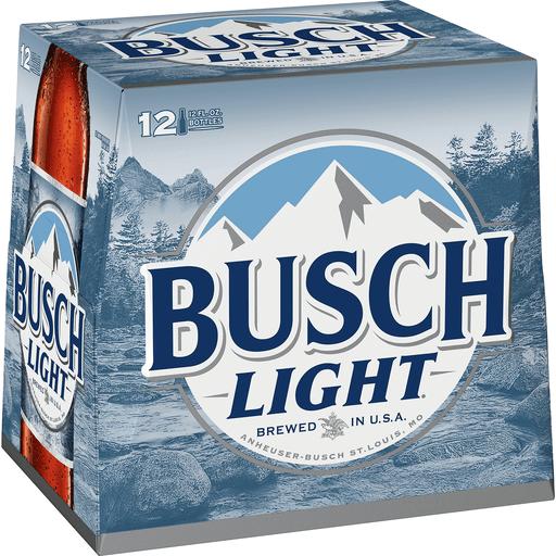 Busch Light Beer 12 Pack Beer 12 Fl Oz Bottles 4 1 Abv Ale Ipa Phelps Market
