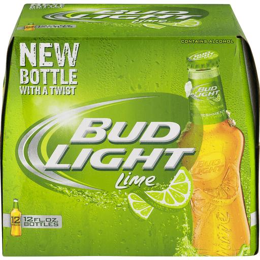Bud Light Beer, Lime, 12 Pack