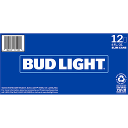 Bud Light 12 Pack Slim Can Beer