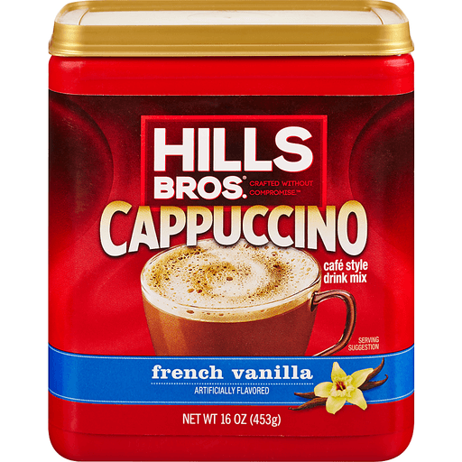 Hills Bros Cappuccino Drink Mix, French Vanilla, Cafe Style