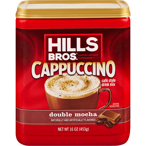 Hills Bros Cappuccino Drink Mix, Double Mocha, Cafe Style