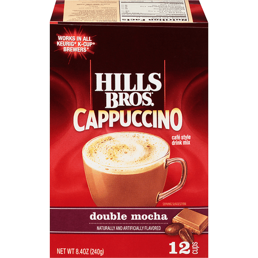 Hills Bros.® Cappuccino Double Mocha Cafe Style Drink Mix Single Serve Cups 12 ct Box