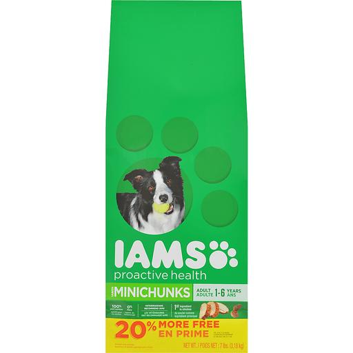 IAMS PROACTIVE HEALTH Adult Minichunks Dry Dog Food 7 Pounds