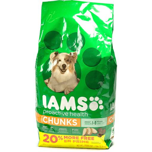 IAMS PROACTIVE HEALTH Adult Chunks Dry Dog Food 7 Pounds