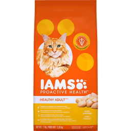 Iams ProActive Health Cat Nutrition, Premium, Healthy Adult Original, with Chicken, 1+ Years