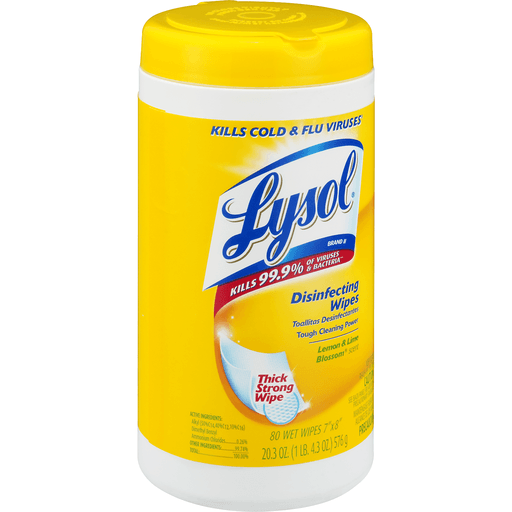 Lysol Disinfecting Wipes Lemon & Lime Blossom - 80 CT
