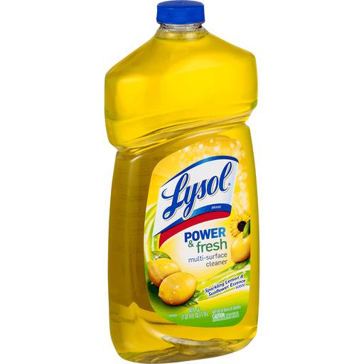 Lysol Multi-Surface Cleaner, Clean & Fresh, Sparkling Lemon & Sunflower Essence Scent