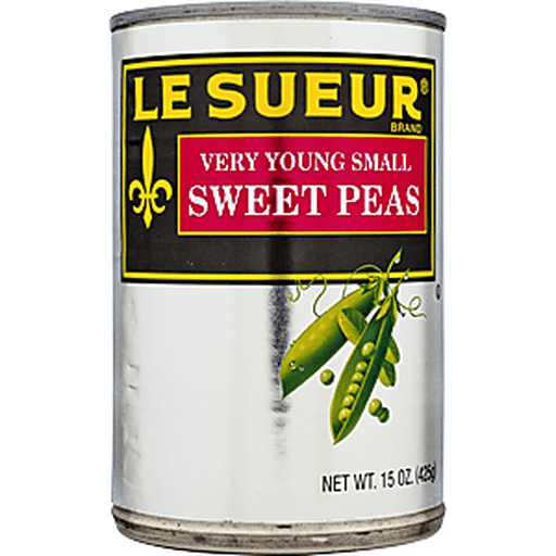 Le Sueur Peas, Sweet, Very Young, Small