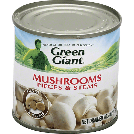 Green Giant Mushrooms Pieces & Stems