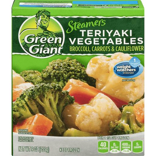 Green Giant Steamers Teriyaki Vegetables Broccoli, Carrots and Cauliflower Lightly Sauced