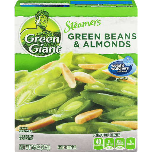 Green Giant Steamers Green Beans & Almonds, Plain