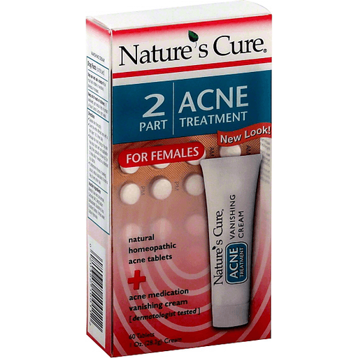 Natures Cure Acne Treatment 2 Part For Females Shop Clements