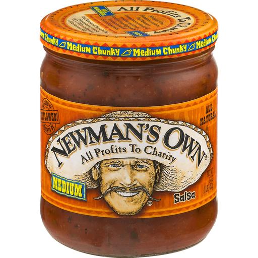 Newmans Own Salsa, Chunky, Medium