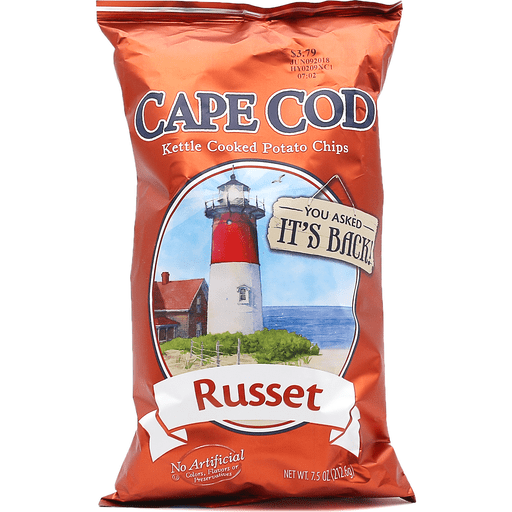 Cape Cod Kettle Cooked Potato Chips Dark Russet
