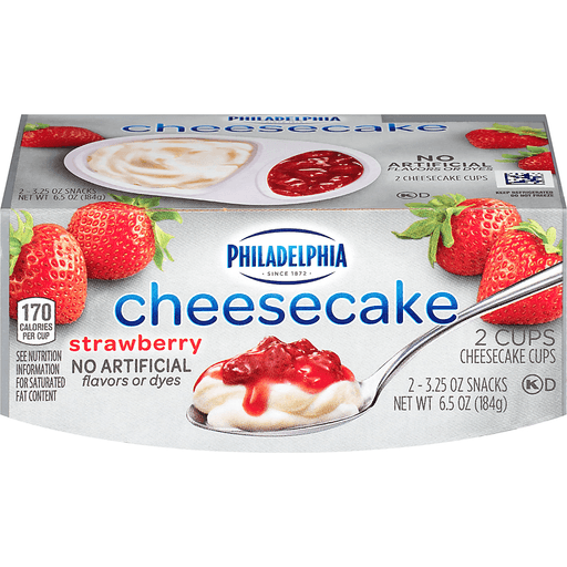 Philadelphia Cheesecake Cups Strawberry - 2 CT