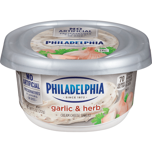 Philadelphia Cream Cheese Spread, Garlic & Herb