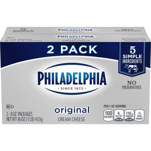 Philadelphia Cream Cheese Original 2 Pk Cream Cheese Phelps Market