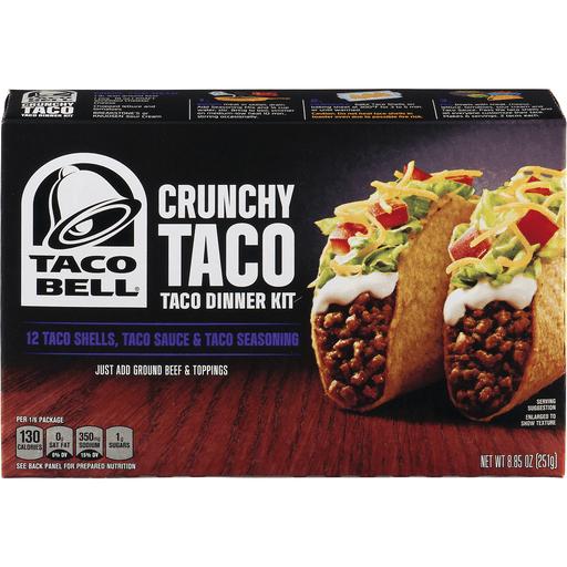 Taco Bell Crunchy Taco Dinner Kit - 12 CT