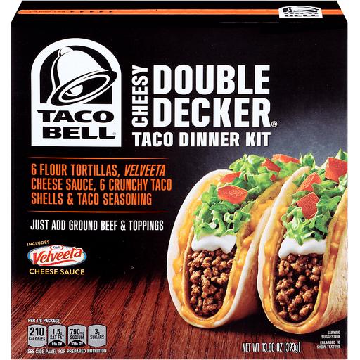 Taco Bell Cheesy Double Decker Taco Dinner Kit - 12 CT