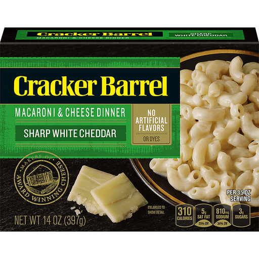 Cracker Barrel Macaroni And Cheese Dinner Vermont White Cheddar