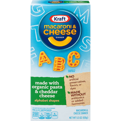 Kraft Macaroni & Cheese Alphabet Shapes