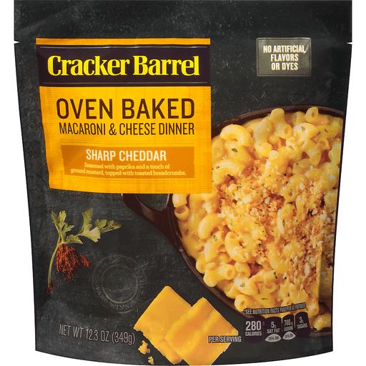 Cracker Barrel Oven Baked Macaroni & Cheese Dinner Sharp Cheddar