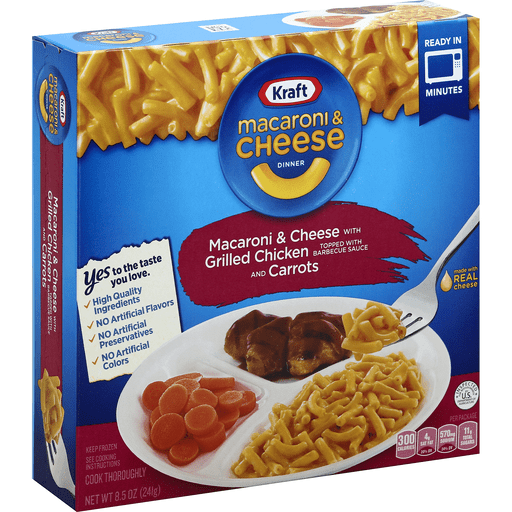Kraft Macaroni Cheese Dinner Grilled Chicken Carrots Meals Entrees Chief Markets