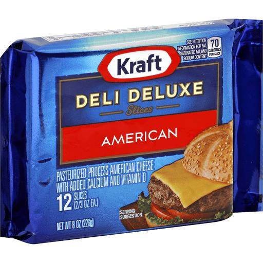 Kraft Deli Deluxe Slices American 12 Ct Shop Martin S Super Markets
