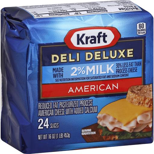 Kraft Deli Deluxe 2% Milk American