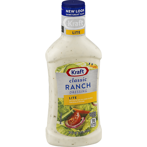 Kraft Dressing, Lite, Classic Ranch