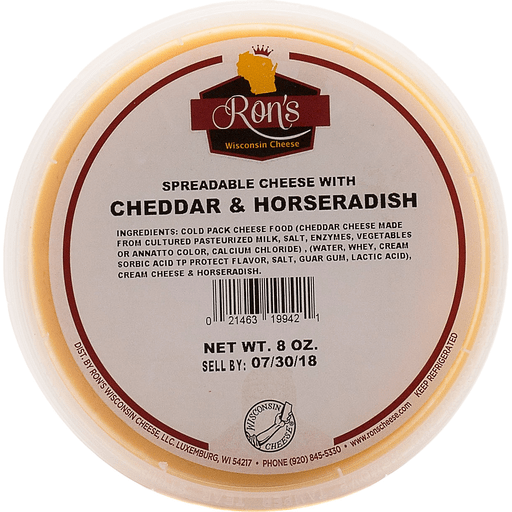 Ron's Spread Cheese W/Cheddar And Horseradish