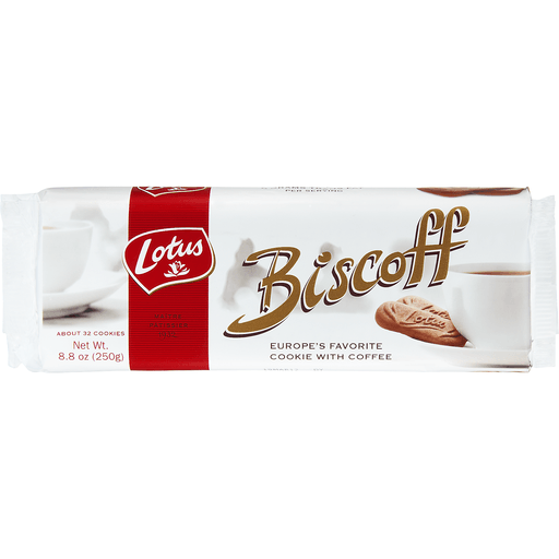 Lotus Biscoff Cookies, with Coffee