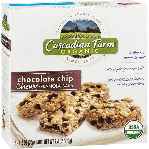 Cascadian Farm Organic Granola Bars, Chewy, Chocolate Chip
