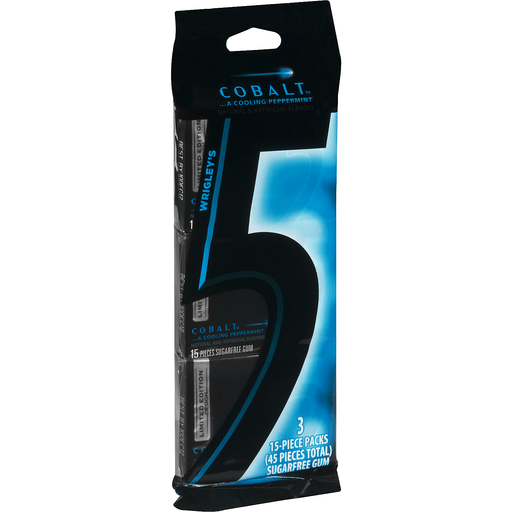 5 Gum, Sugarfree, Cobalt