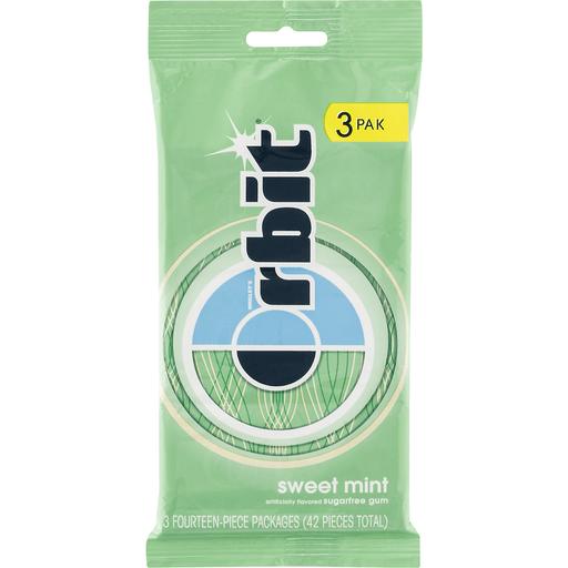 Orbit Sugarfree Gum Sweet Mint - 3 PK
