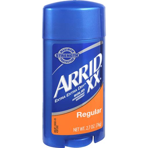 Arrid XX Antiperspirant Deodorant, Solid, Regular