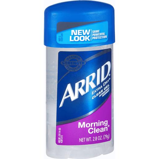 Arrid XX Antiperspirant Deodorant, Clear Gel, Morning Clean