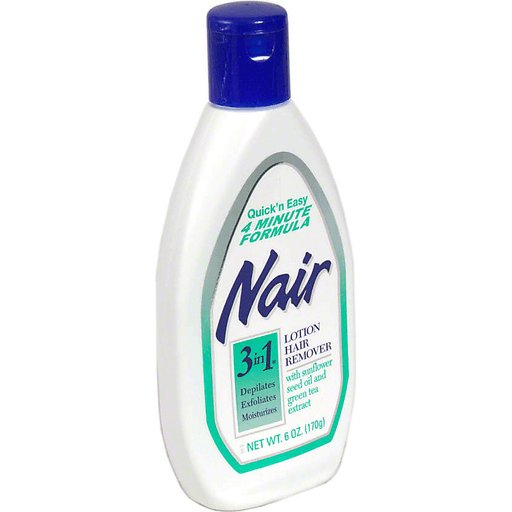 Nair 3 In 1 Lotion Hair Remover With Sunflower Seed Oil And Green