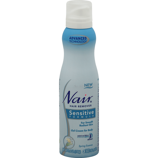 Nair Hair Remover Gel Cream For Body Sensitive Formula Spring