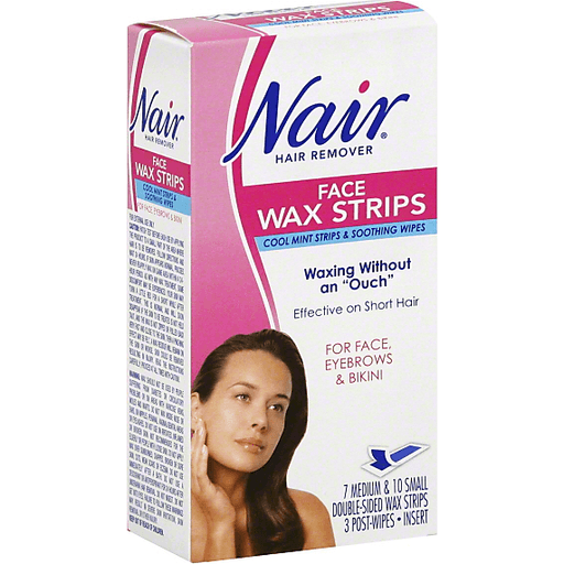 Nair Hair Remover Face Wax Strips Hair Body Care Market Basket