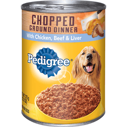 Pedigree Chopped Ground Dinner Food For Dogs With Chicken, Beef & Liver