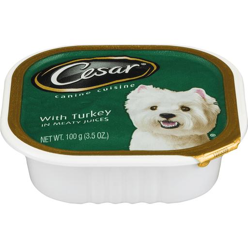 Cesar Classics Canine Cuisine, with Turkey, in Meaty Juices