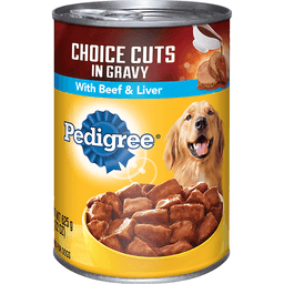 Pedigree® Choice Cuts In Gravy with Beef & Liver Wet Dog Food 22 oz. Can