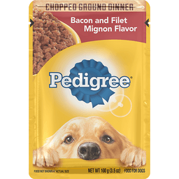 Pedigree® Chopped Ground Dinner Bacon and Filet Mignon Flavor Wet Dog Food