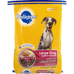 Pedigree Food for Dogs Complete Nutrition, Roasted Chicken, Rice & Vegetable Flavor, Adult, for Big Dogs